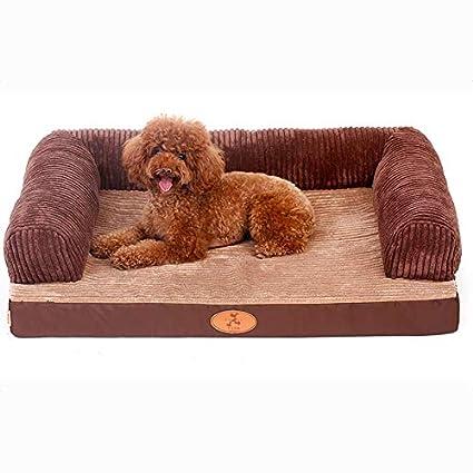Cama para mascotas, Tela Oxford + Esponja/Mediano/Grande para Perros Cuatro Estaciones