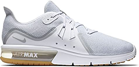 buy online e5c1a 06b0e Nike Men s Air Max Sequent 3 Running Shoe White Pure Platinum Size 10.5 US