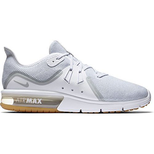 NIKE Men's Air Max Sequent 3 Running Shoe White/Pure Platinum Size 10.5 US
