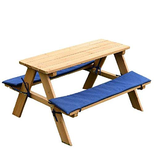 Elegant GT Kids Dining Bench Cushion Wooden Picnic Table Outdoor Kid Toddlers Lawn  Garden Yard Furniture U0026