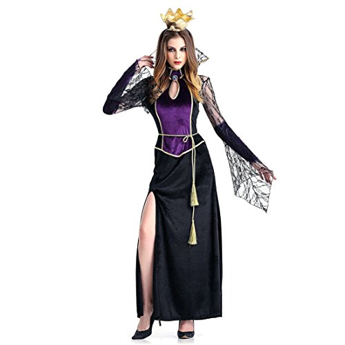 Sexy Deluxe Vampiress Costumes (Slocyclub Deluxe Midnight Vampiress Costume Halloween Party Gown for Women)