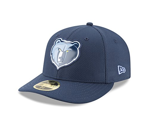 NBA Memphis Grizzlies Adult Bevel Team Low Profile 59FIFTY Fitted Cap, 7 1/2, Oceanside Blue