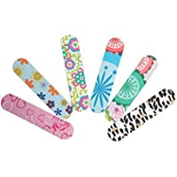 SBYURE 48 Pcs Colorful Girly Nail File,Double Sided Natural Emery Board Set Bulk for Women,Cosmetic Manicure,Color Random
