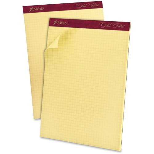 Ampad Medium Weight Quadrille Pad - 50 Sheet - 16 lb - Quad Ruled - Letter 8.50