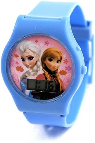 Disney Frozen Elsa and Anna Girls Digital Kids Watch Blue on Blue