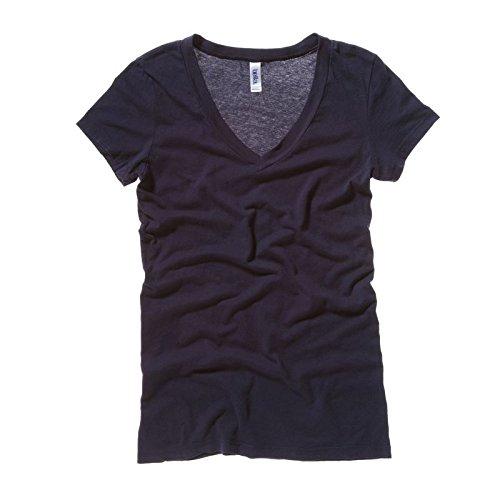 Bella + Canvas Womens/Ladies Tissue Jersey Deep V-Neck T-Shirt (L) (Soft Pink)