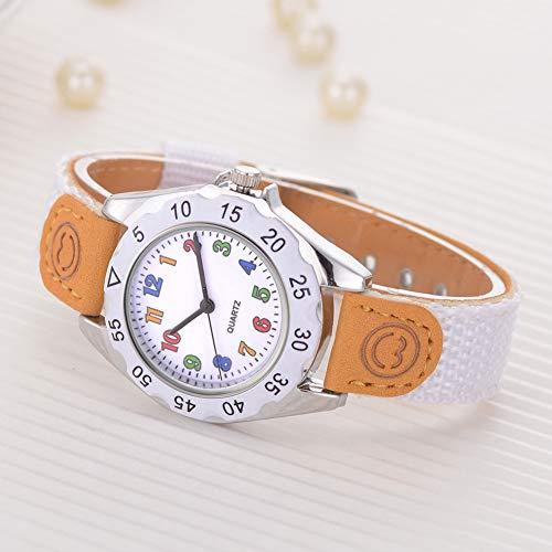 Fashion Children Kids Arabic Numbers Nylon Band Wristwatch Analog Quartz Watch Wrist Studens Watches by Gaweb (Image #5)