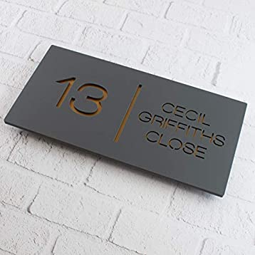 Acrylic Floating Rectangular House Sign