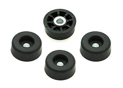 500 Small Round Rubber Feet - .250 H X .671 D W/Screws - Made in USA - Food Safe Cutting Boards Electronics Crafts #