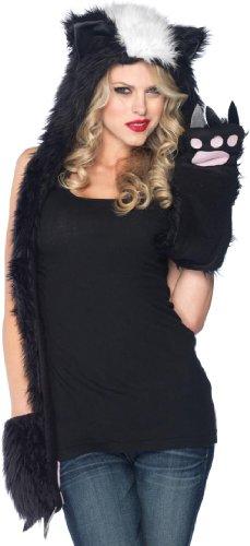 Plush Skunk Hood Costume Accessory (Hood Costume Accessories)
