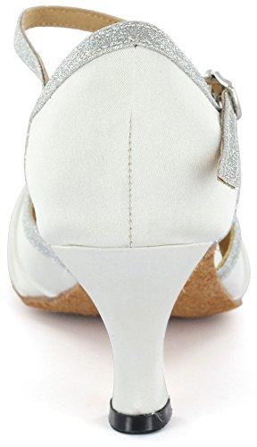 Scarpe Da Ballo Latino Dsol D383-6 Bianche