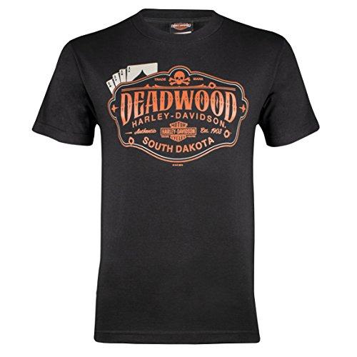 HARLEY-DAVIDSON Deadwood Men's Cards Short Sleeve T-Shirt (3XL) Black