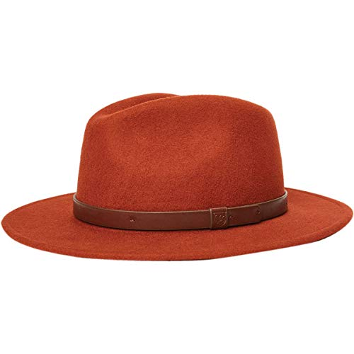 Brixton Men's Messer Medium Brim Felt Fedora HAT, Picante, XS