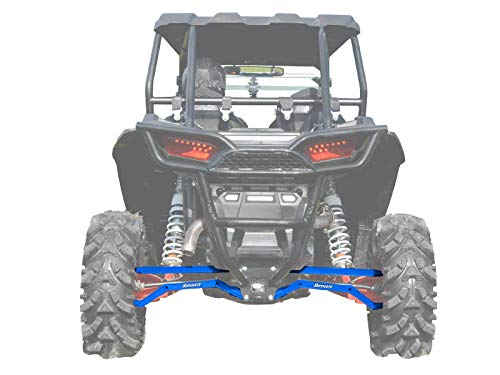 Polaris Rzr Suspension - SuperATV Heavy Duty High Clearance Boxed Rear Radius Arms/Rods for Polaris RZR XP 1000 / XP 4 1000 (2014+) - Voodoo/Velocity Blue