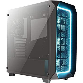 Image of Aerocool P7C0 Pro16.8 Mil Colour RGB Fans with Hub/Dual Tempered Glass Panels - Black Computer Cases