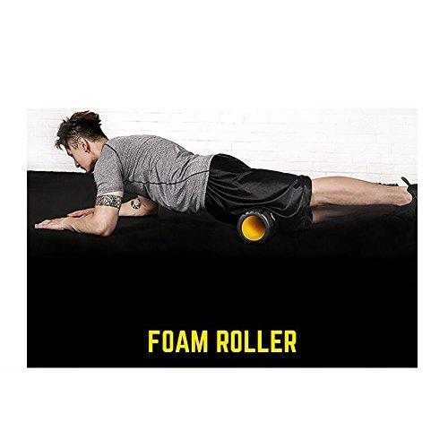 Fitness Mousse Rouleau Musculaire Détendre Rouleau De Massage Creux Avec Grille Design Massage Bâton Outil De Massage Pour La Maison Gym Pilates Yoga (33 * 15cm),PinkCamo