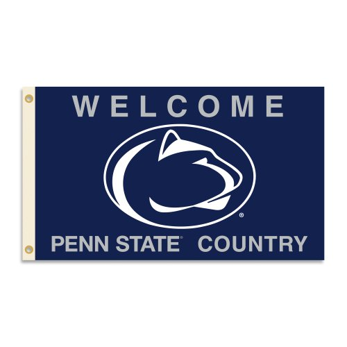 (BSI NCAA Penn State Nittany Lions 3 x 5-Feet Country Flag with Grommets )