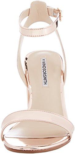Windsor Smith Damen Barlo Peeptoe Sandali Multicolore (rosa Specchio Oro 001)