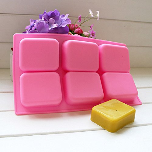 FidgetFidget Cavity Pink Rectangle Fillet Soap Cake Mold Silicone for Homemade Craft Making