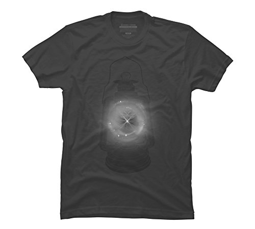Camping Lamp Men's Large Charcoal Graphic T Shirt