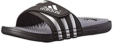 adidas Performance Men's Adissage Fade Slide Sandal, Core Black/Metallic Silver/Running White, 15 M US