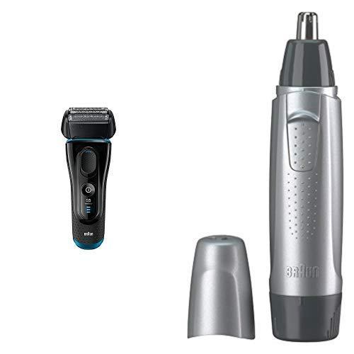 【セット買い】ブラウン メンズ電気シェーバー シリーズ5 5140s + 鼻毛/耳毛カッター EN10   B07JLXFFJ1