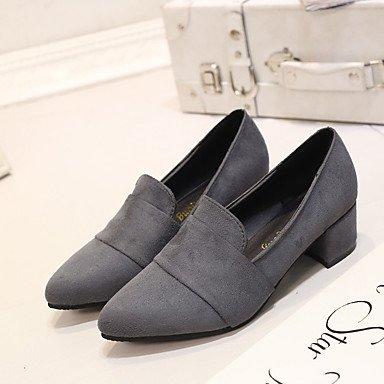 Femme Décontracté Confort Rose ggx Confort Plat Chaussures à Gris Flocage LvYuan Talons Bleu blue Printemps 8n5qAWW