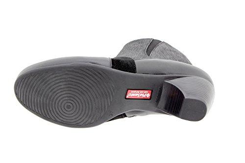 Chaussure femme confort en cuir Piesanto 9885 botte confortables amples Noir OUzMKdmAt