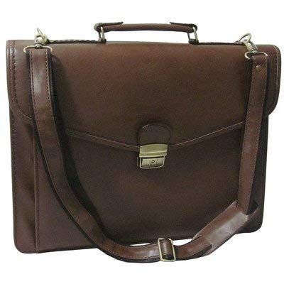Amerileather Cleveland Executive Faux Leather Briefcase Brown