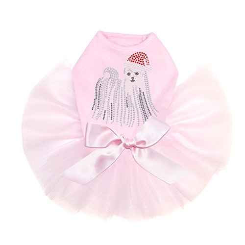 Dog in the Closet, Maltese with Santa Hat - Dog Tutu by Dog in the Closet