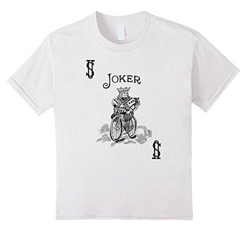 [Kids Joker | Card Suit Halloween Poker Magic Fan Costume T-shirt 6 White] (Card Joker Costumes)