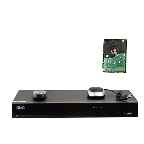 GW Security 32 Channel NVR / Network Video Recorder with 16 PoE ports Built in and 16 Ports PoE Switch - Supports Up 32 X 5MP /3MP /2MP 1080P ONVIF IP Cameras @ 30fps Realtime, QR Code Access, 2TB HDD