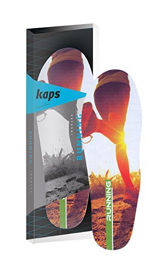 Professional Performance Shoe Insoles for Running, Comfort and Injury Protection, Kaps Running (Men - 41/43 EUR - 8/10 US)
