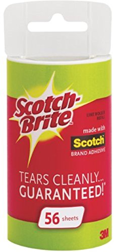 Scotch-Brite Lint Roller Refill Roll 56 ea (Pack of 3)