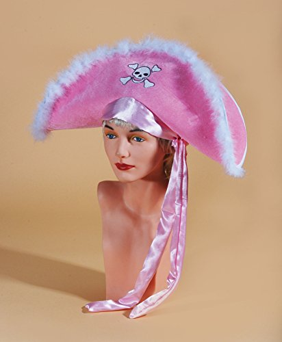 Loftus International Star Power Fluffy Girl Pirate Costume Hat, Pink, One Size -