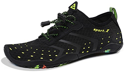 HEETA Water Sports Shoes for Women Men Quick Dry Aqua Socks Swim Barefoot Shoes for Beach Pool Surf Swim Yoga Black_A 42#