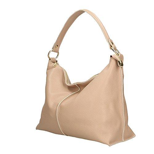 sac en cuir à 45x26x14 italie Rose en fabriqué pour Aren femme Cm bandoulière véritable CqRqd
