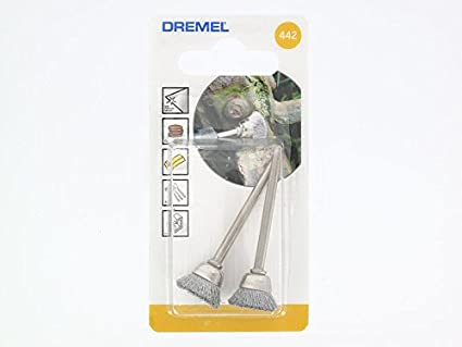 Dremel 442 EZ Speedclic - Cepillo de acero al carbono, Accesorio para herramientas rotativas, Diámetro de trabajo 13 mm, 15.000 RPM máximas: Amazon.es: Bricolaje y herramientas