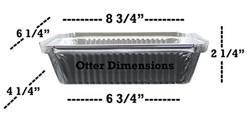 """100 Pack of Disposable Takeout Pans with Clear Lids – 2 Lb Capacity Aluminum Foil Food Containers – Strong Seal for Freshness – Eco-Friendly and Recyclable – 8x5.5"""" Inch Drip Pans - By MontoPack by MontoPack (Image #2)"""