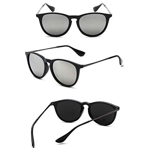 UV400 Special Retro lunettes Sunglasses Des Sunglasses Mens Film Zhhlinyuan Casual for Round Color silver qv8Ex4nwx