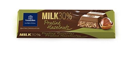 Leonidas Belgian Chocolates - 50 gr Batons - Milk Hazelnut (Leonidas Pralines)