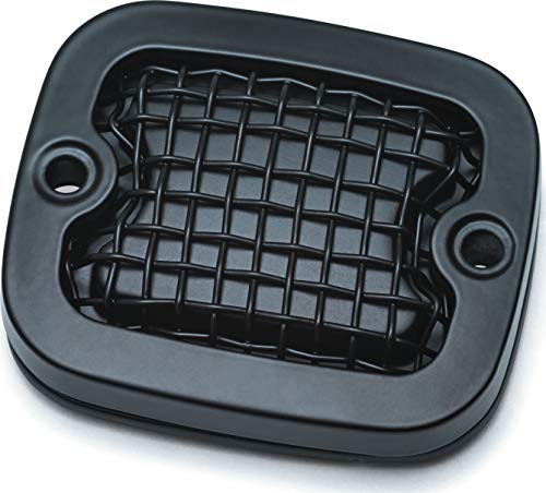 Kuryakyn 6535 Mesh Brake Master Cylinder Cover, Dyna / Softail, Satin Black