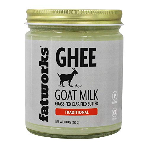 Fatworks, Grass-Fed Ghee, Cultured Clarified Butter, traditional, filtered, organic superfood used for cooking and butter, 7.5 oz jar