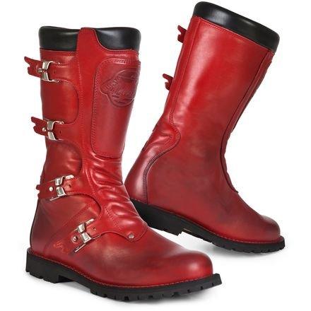 Metal Nappa Footwear - Stylmartin Continental Boots (RED)