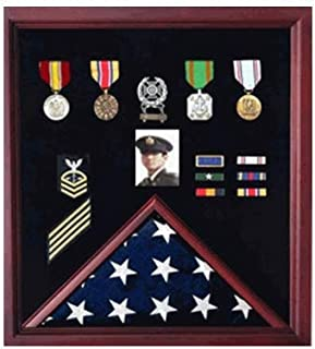 product image for 4 x 6 Flag Display Case Combination for Medals Photos