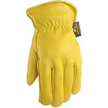 Men's Deerskin Winter Work Gloves, 100-gram Thinsulate