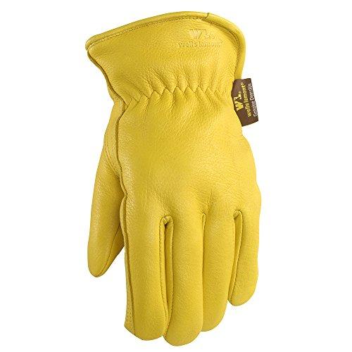 Men's Deerskin Winter Work Gloves,100-gram Thinsulate Insulation, Fleece-Lined, X-Large (Wells Lamont 963XL)