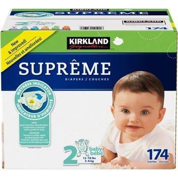 Kirkland Signature Supreme Diapers Size 2; Quantity: 174