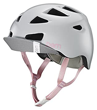 Bern Melrose Casco de Bicicleta de Mujer, Mujer, Color Satin Light Grey, tamaño