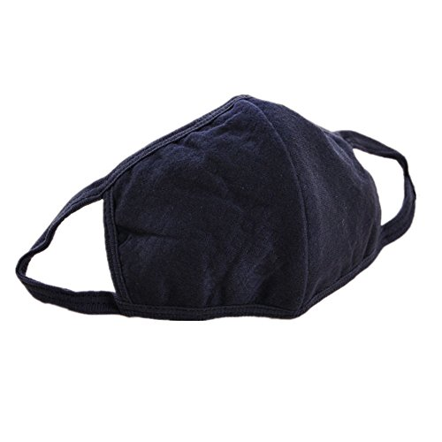 5pcs Luxury New Unisex Men Women Cycling Anti-dust Cotton Mouth Face Mask (black) by Sinlifu